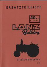 Ersatzteilliste Traktor Lanz Bulldog Volldiesel D4016 BA15455 Ausg. 09/1957