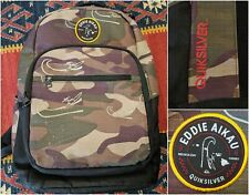 QUIKSILVER Eddie Aikau Backpack Camouflage Insulated Lunch Pocket Eddie Would Go