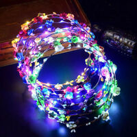 Hair Garland Wreath Hair Flashing Glow Flower Light Headbands Party Bride Gifts