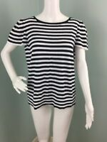 NWT Womens Ann Taylor LOFT Striped Knit Flutter Sleeve Top Sz XL Extra Large