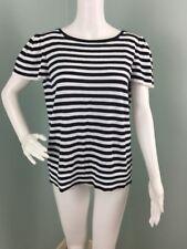 NWT Womens Ann Taylor LOFT Striped Knit Flutter Sleeve Top Sz XL Extra Large