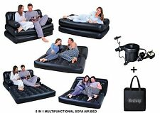 Bestway 5in1 Inflatable Double Air Sofa Chair Lounger Couch Bed Mattress W/pump