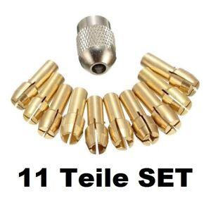 11 tlg Spannzangen Set Ø 0,5 - 3,2 mm Spannfutter Dremel Proxxon Bohrfutter 10x