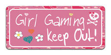 Girl Gaming Keep Out - Metal Door Sign / Plaque