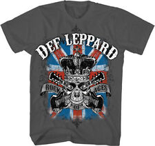 Official Def Leppard - Rock Of Ages - Men's Grey T-Shirt IMPORT