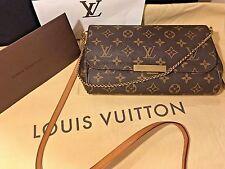 Authentic Louis Vuitton Monogram Chain Shoulder Crossbody Hand Bag Favorite PM