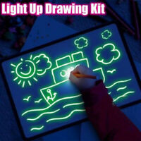 Light up Drawing Fun Developing Toy Game Draw Sketchpad Board Portable