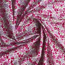 Fleur Ditsy Flowers on 100% Cotton Lawn Dressmaking Fabric in Pink - METRE