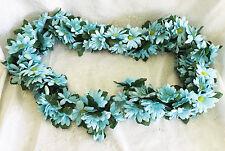AQUA TURQUOISE ~ DAISIES Chain Garland ~ 5 ft Silk Wedding Flowers Arch Gazebo