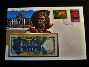 Banknotenbrief  Uruguay  50 Nuevos Pesos  unc.