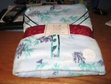 WOMENS PAJAMAS SIZE 2X XXLARGE BLUE & GREEN FLORAL BRUSHED MICROFLEECE NEW