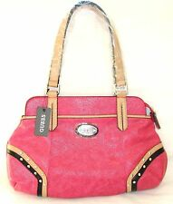 New-Guess Gulfport Hibiscus, Rose Vif Python Simili Cuir Sac Bandoulière, Bourse
