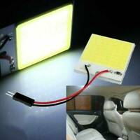 1X 48SMD COB LED White Panel Car Interior Panel Light Dome Lamp Bulb T10 12V 4W