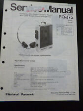 Original Service Manual Panasonic Mini Cassette RQ-J75