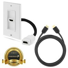 1 Port HDMI Wall Face Plate Coupler + 25ft HDMI Cable HDTV PS4 XBOX Wii U Switch