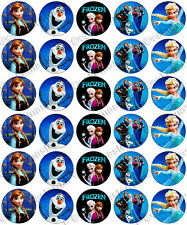 30 x Frozen Party Designs Edible Rice Wafer Paper Cupcake Toppers