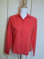 SALE.  jigsaw coral orange opalescent shirt  10 uk
