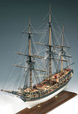 "Amati HMS Fly 32"" Wooden Tall Ship Model Kit Victory Series Swan Class 1776"