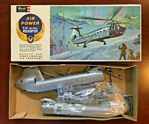 Vintage Revell Model Airplane H16 Twin-Rotor Helicopter