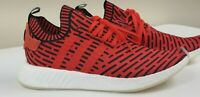 NEW MEN'S ADIDAS NMD R2 CORE RED CORE BLACK FOOTWEAR WHITE BB2910 SIZE 12.5