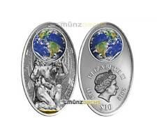 10 $ Dollar Apocalypse II Legende von Atlas Fiji Silber Silver 2012 Glas Inlay