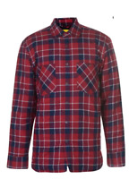 DUNLOP Flannel Shirt Mens Red/Blue Checked Jacket Size UK XXL *REF104