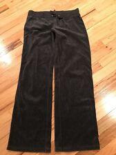 Women's Ny & Co Dark Grey Velour Pants Size Small