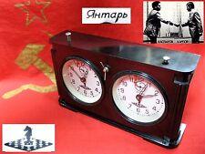 Vintage CHESS tournament CLOCK JANTAR Amber Carbolite Soviet Russian USSR 50-60s