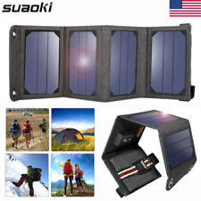 5V 7W Foldable USB Solar Panel Portable Battery Charger f. Phone Hiking Camping