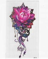 Blume Einmal Tattoos Blumen große rose Temporäre Tattoo Body Sticker 21x11cm
