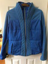 Lululemon Beaming Blue St. Moritz Soft Fleece Jacket Zippered Pockets Sz 12 EUC