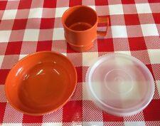 VTG KidPlay Food Tupperware Tuppertoy MINI Bowl LID Cup Replacement Retro Orange