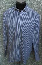 180 M18 Hugo Boss Camisa de Hombre TALLA M Kw 39 Blanco y Negro a Rayas