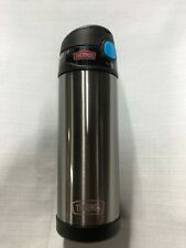 Thermos FUNktainer 16 Ounce Bottle Stainless Steel Charcoal New