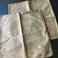 Pottery Barn Pillow Covers PAIR 20 X 20 Floral Brown Purple Teal