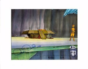 "ANTHONY DANIELS Signed Star Wars ""DROIDS"" Cartoon Animation Cel BAS #Z53859"