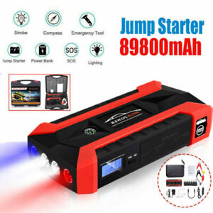 89800mAh Car Jump Starter Pack Booster Battery Charger Emergency Power Bank 4USB