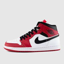 Nike Air Jordan Retro 1 MID CHICAGO 2020 WHITE HEEL Gym Red Black 554724-173 AJ1