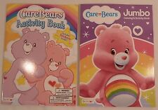 Lot of 2 ~ Care Bears Jumbo Coloring & Activity Books ~ Includes Stickers! ~ NEW