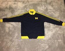 ADIDAS Michigan Wolverines Blue Track Jacket Men's XL  FREE SHIPPING!!