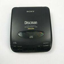 SONY DISCMAN D-33 CD Compact Portable Player w/ Mega Bass Black