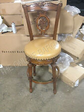 """Frontgate Provencal Carved Grape counter BAR Leather Barstool stools chair 30"""""""
