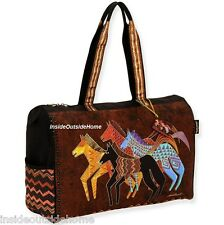 Laurel Burch Native Horses LG Travel Tote Bag Sport Beach Cruise Tack New