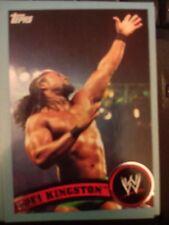 2011 Topps WWE Wrestling BLUE #35 Kofi Kingston  #d 0860/2011