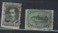 CANADA  NEW  FOUNDLAND SC 24 and 27  USED FVF
