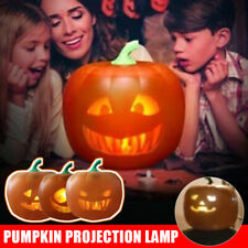 Halloween Flash Talking Animated LED Pumpkin Projection Lamp for Home Party US
