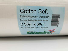 Madeira Cotton Soft 30cm X 50m WEISS