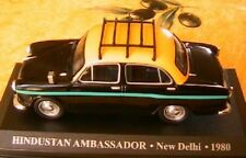 HINDUSTAN AMBASSADOR TAXI NEW DELHI 1980 IXO 1/43 NOIRE INDE INDIA BLACK SCHWARZ
