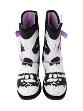 New Iron Fist Misfits Fiend Fugly Purple Bow Skull Boot Ladies Sz 5
