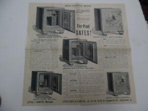 c.1895 Lytle Safe & Lock Company Illustrated Catalog Circular Cincinnati Antique